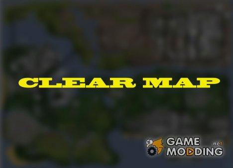 Чистая карта for GTA San Andreas