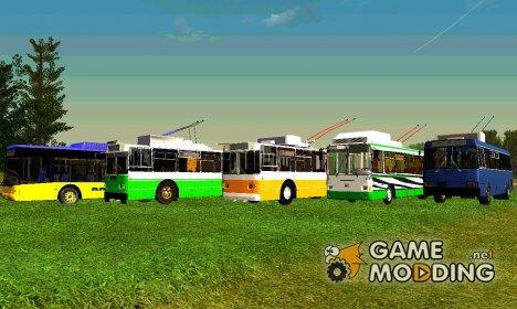 Сборник троллейбусов от Геннадия Ледокола для GTA San Andreas