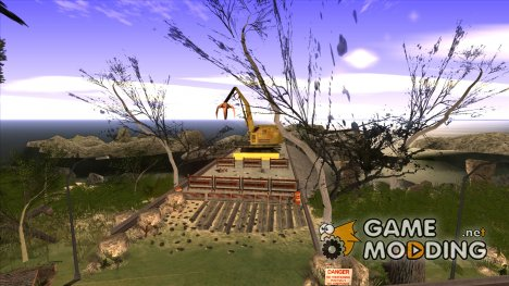 Строительство моста и густой лес for GTA San Andreas