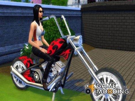 Мотоцикл  Esmeralda for Sims 4