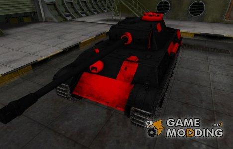 Черно-красные зоны пробития PzKpfw V Panther для World of Tanks