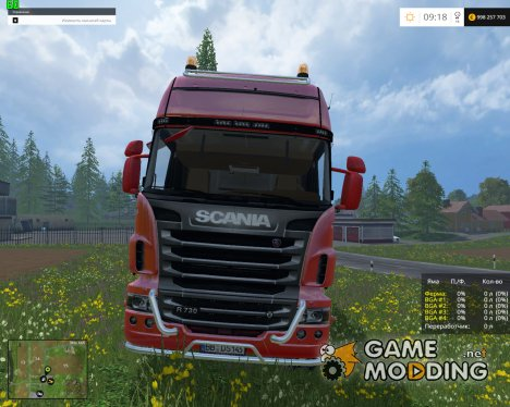 Scania R730 BRUKS V2.0 для Farming Simulator 2015