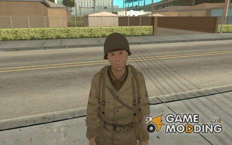 Американский Солдат Второй Мировой for GTA San Andreas