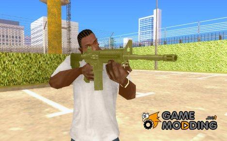 Новая золотая M4 for GTA San Andreas