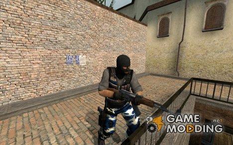 Blue Camo для Counter-Strike Source
