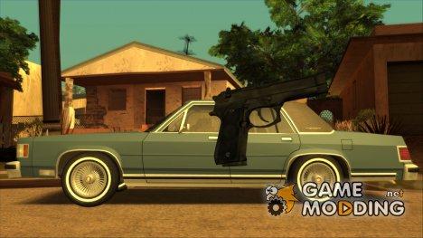 HQ Colt 45 v2.0 (With HD Original Icon) для GTA San Andreas