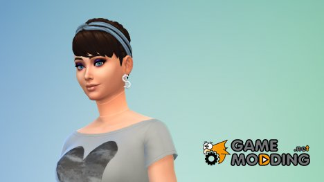 "Серьги №7 ""Доллары"" для Sims 4"
