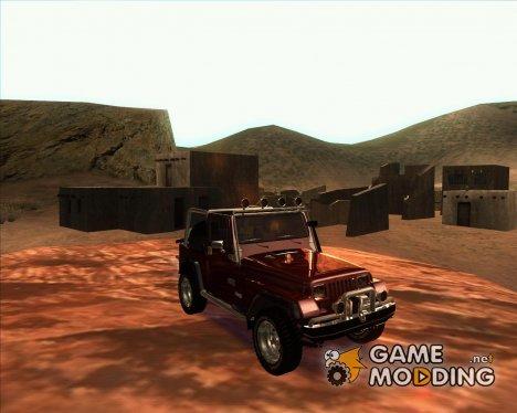 Jeep Wrangler 86 4.0 Fury v.3.0 для GTA San Andreas