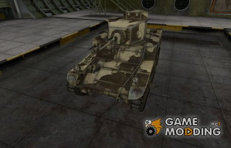 Пустынный скин для М3 Стюарт для World of Tanks