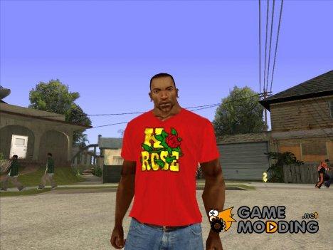 CJ в футболке (K Rose) для GTA San Andreas