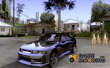 Nissan Skyline R33 Tokyo Drift для GTA San Andreas
