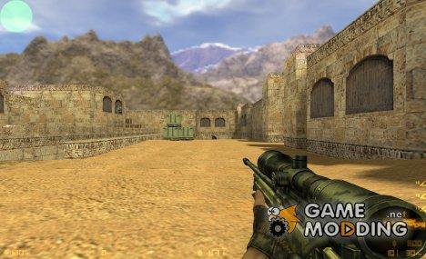 Desert Camo CSS AWP for Counter-Strike 1.6