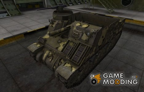 Простой скин M7 Priest for World of Tanks