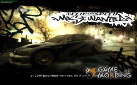 Загрузочные экраны в стиле NFS: Most Wanted for GTA San Andreas