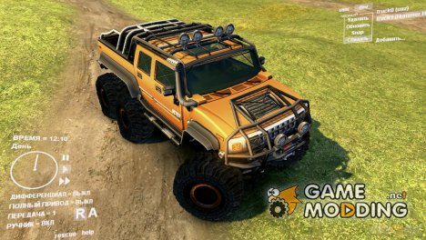 Hummer H2 SUT 6x6 for Spintires DEMO 2013