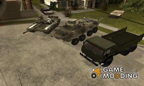 Пак современной российской техники for GTA San Andreas