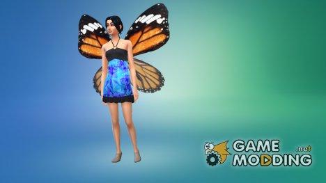 Крылья бабочки 02 for Sims 4
