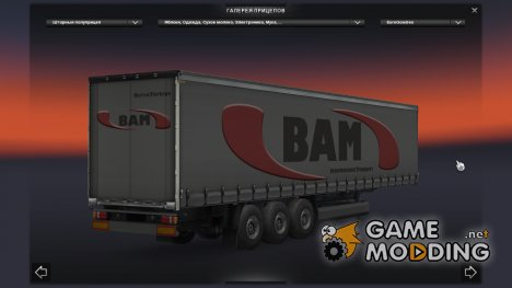 Скин BAM для прицепа for Euro Truck Simulator 2