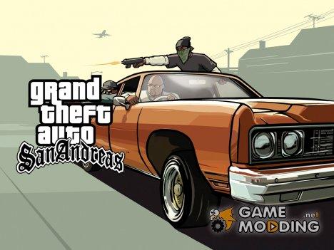 DLC: HD новая карта + титул v2.2 for GTA San Andreas