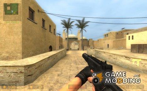 Logger's MP9 + New Anims для Counter-Strike Source