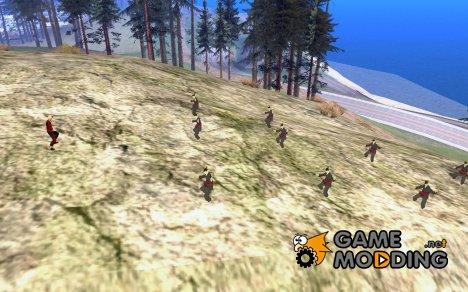 Каратисты на горе v.2 для GTA San Andreas