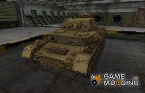 Пустынный скин для танка PzKpfw IV for World of Tanks