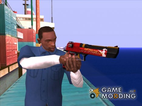 Christmas Desert Eagle (2016) для GTA San Andreas