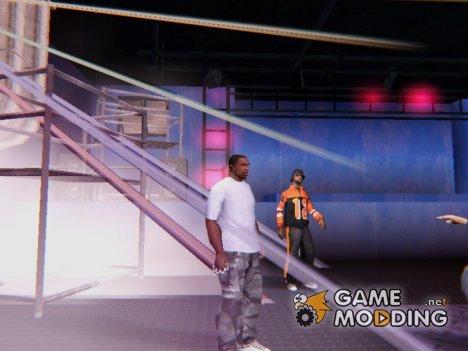 Убрать музыку в интерьерах для GTA San Andreas