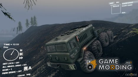 Горелый лес для Spintires DEMO 2013