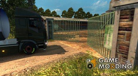 Анимация ворот 2.4 for Euro Truck Simulator 2