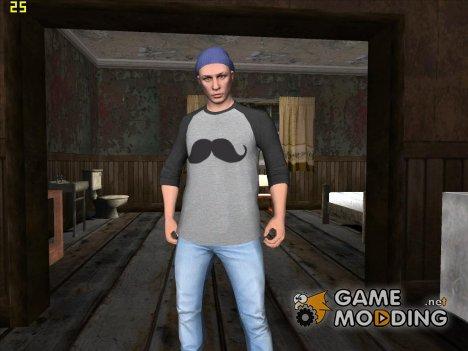 Skin GTA V Online HD парень в шапке for GTA San Andreas