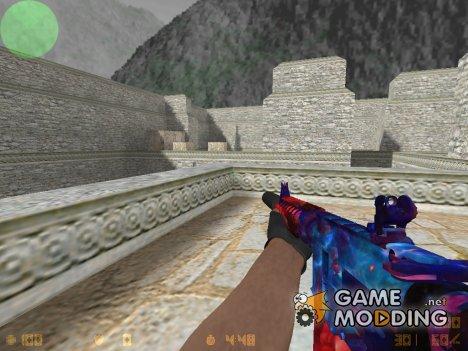 M4A4 Космическая спираль for Counter-Strike 1.6