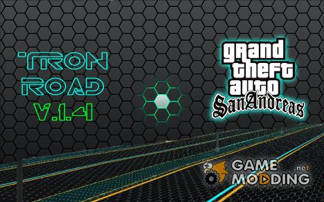 Tron road mod V.1.4 for GTA San Andreas