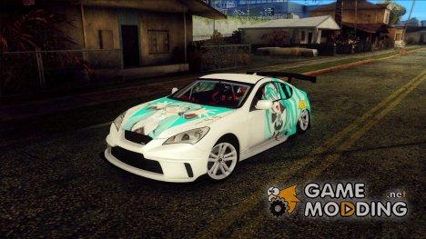 Hyundai Genesis Coupe - Miku Hatsune Itasha for GTA San Andreas