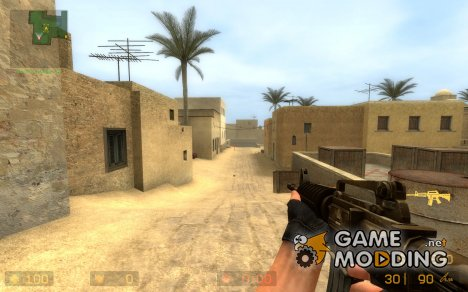Desert Camo M4A1 v.2 для Counter-Strike Source