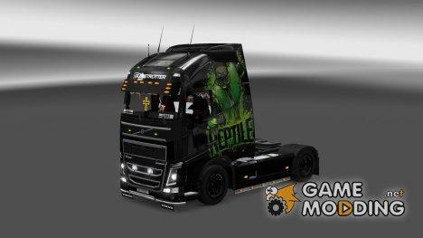Скин для Volvo FH 2012 Reptile для Euro Truck Simulator 2