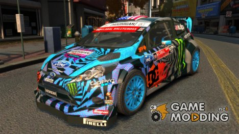 Ford Fiesta Rallycross - Ken Block [Hoonigan] 2013 for GTA 4