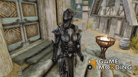 Sakura the Ebony knight for TES V Skyrim