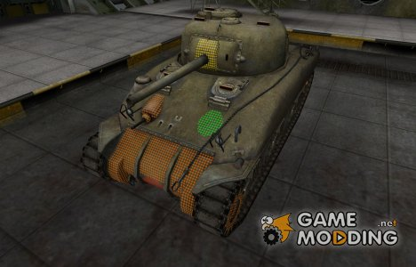 Зона пробития M4 Sherman for World of Tanks