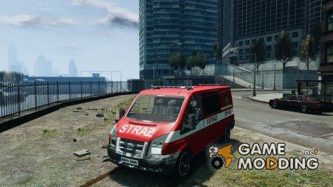 Ford Transit Polish Firetruck для GTA 4