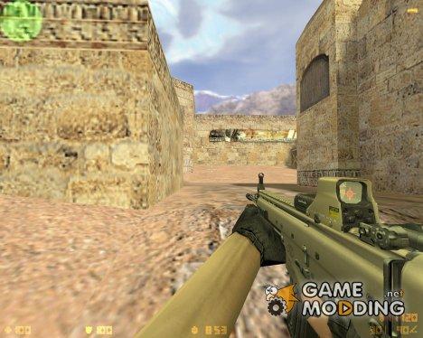 SCAR-L с голографическим прицелом для Counter-Strike 1.6