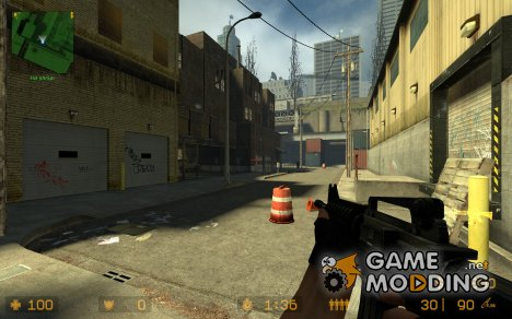 ank_cj's_m4a1_dark for Counter-Strike Source