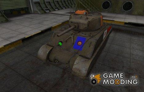 Качественный скин для M4A3E2 Sherman Jumbo для World of Tanks