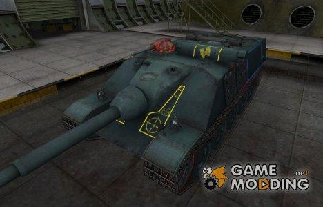 Контурные зоны пробития AMX 50 Foch для World of Tanks