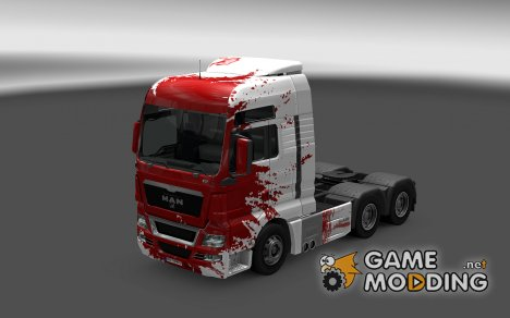 Скин Blood для MAN TGX for Euro Truck Simulator 2