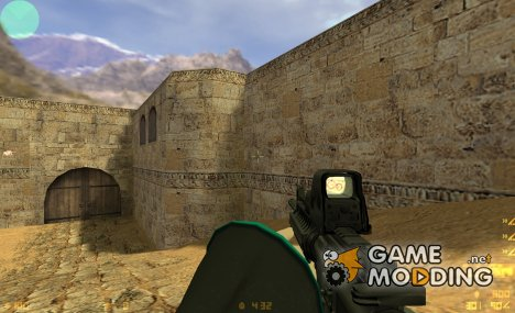 M4 SRIS on Mrbond123's Miku hands для Counter-Strike 1.6
