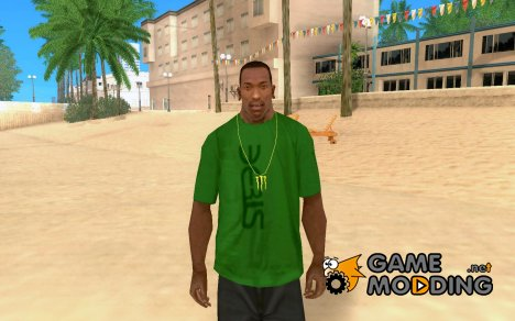 Золотая цепь MONSTER ENERGY for GTA San Andreas