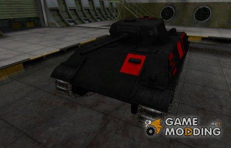 Черно-красные зоны пробития VK 28.01 for World of Tanks