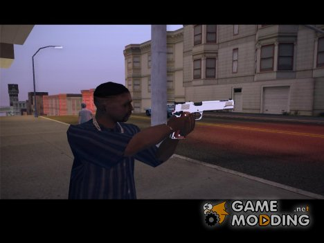 Desert Eagle woody chrome для GTA San Andreas