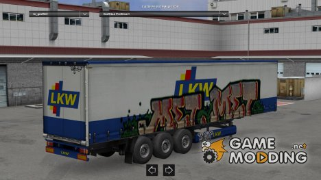 Graffited trailers by Saito для Euro Truck Simulator 2